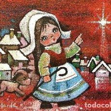 Postales: FELICITACION NAVIDAD GALLARDA * PASTORCITA CON SU PERRITO* 1966 ( 18 X 13). Lote 118377919