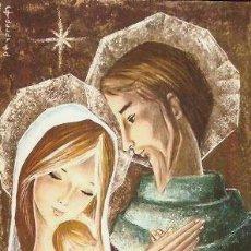 Postales: FELICITACION NAVIDAD GALLARDA * JOSÉ, MARIA Y EL NIÑO JESÚS * 1963 ( 16 X 10,50) MORBA. Lote 118378719
