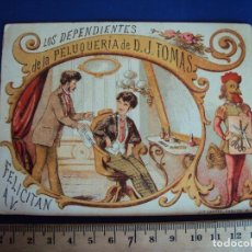 Postales: (PN-180425)FELICITACION DE NAVIDAD-LOS DEPENDIENTES DE LA PELUQUERIA DE D.J.TOMAS. Lote 118455291