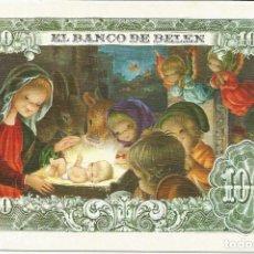 Postales: FELICITACION NAVIDAD *VERNET* - EL BANCO DE BELEN - DIPTICA 15,5X10,5 CM. Lote 119388967