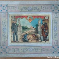 Postales: FELICITACION NAVIDAD EL VIGILANTE BARCELONA PARQUE DE LA CIUDADELA CROMOLITOGRAFIA ANTIGUA. Lote 119425799
