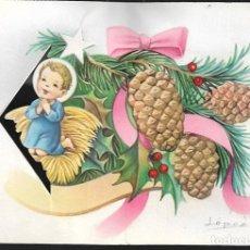 Postales: FELICITACION TROQUELADA NAVIDAD LOPEZ * NIÑO REZANDO * 1963. Lote 120629595