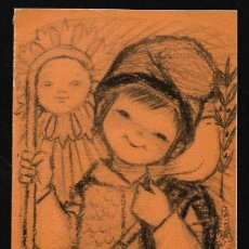 Postales: FELICITACION NAVIDAD FERRÁNDIZ * PASTOR CON PALOMA *1966 (22,50 X 9 ). Lote 121459983