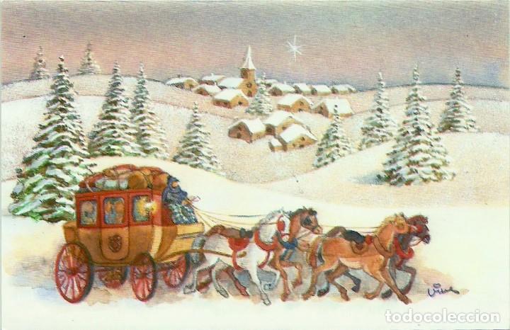 0841G - EDICIONES EDICROMO SERIE 6458.1 - DIPTICA 13X8,5 CM - ILUSTRA VIVES (Postales - Postales Temáticas - Navidad)
