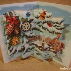 Postales: TARJETA NAVIDAD TROQUELADA - EDICIONES PERLA. Lote 122218423
