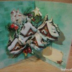 Postales: TARJETA NAVIDAD TROQUELADA - EDICIONES PERLA. Lote 122218535
