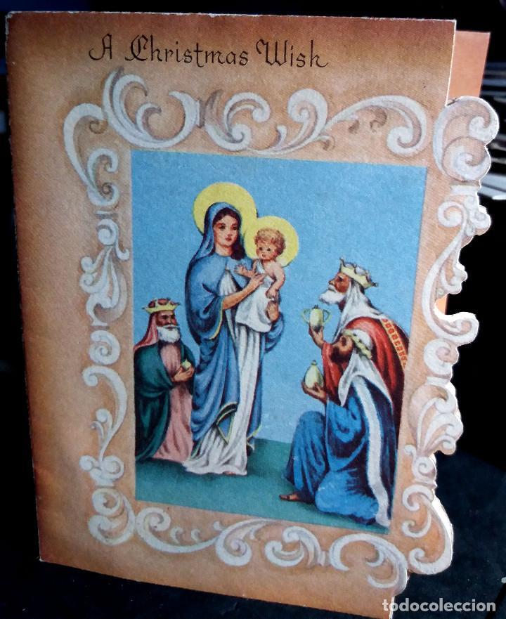 Felicitaciones De Navidad Con Los Reyes Magos.Felicitacion Navidad Usa Los Reyes Magos Ofreciendo Regalos Al Nino Jesus