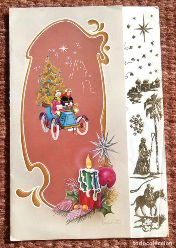TARJETA FELICITACION DE NAVIDAD - ILUSTRACION VERNET (Postales - Postales Temáticas - Navidad)