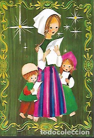 FELICITACION NAVIDAD * CANTANDO VILLANCICOS * AÑO 1970 (Postales - Postales Temáticas - Navidad)