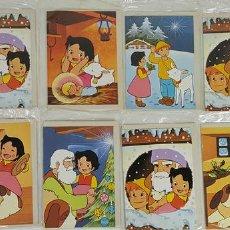 Postales: COLECCIÓN DE 11 POSTALES NAVIDEÑAS. HEIDI. ZUIYO ENTERPRISES. 1975. Lote 124400143