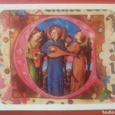 Postales: TARJETA FELICITACION NAVIDAD ANGELES MUSICOS UNICEF AÑO 1976. Lote 125139940