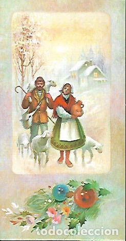 FELICITACION NAVIDAD PERALTA * PASTORES CON SUS OVEJAS * 1984 (Postales - Postales Temáticas - Navidad)