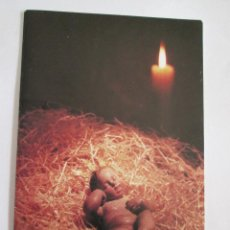 Postales: TARJETA DOBLE - FELICITACION NAVIDAD - 16X11 - ESCRITA 1992 - IGLESIA SAN JUAN BAUTISTA SEVILLA. Lote 128137131