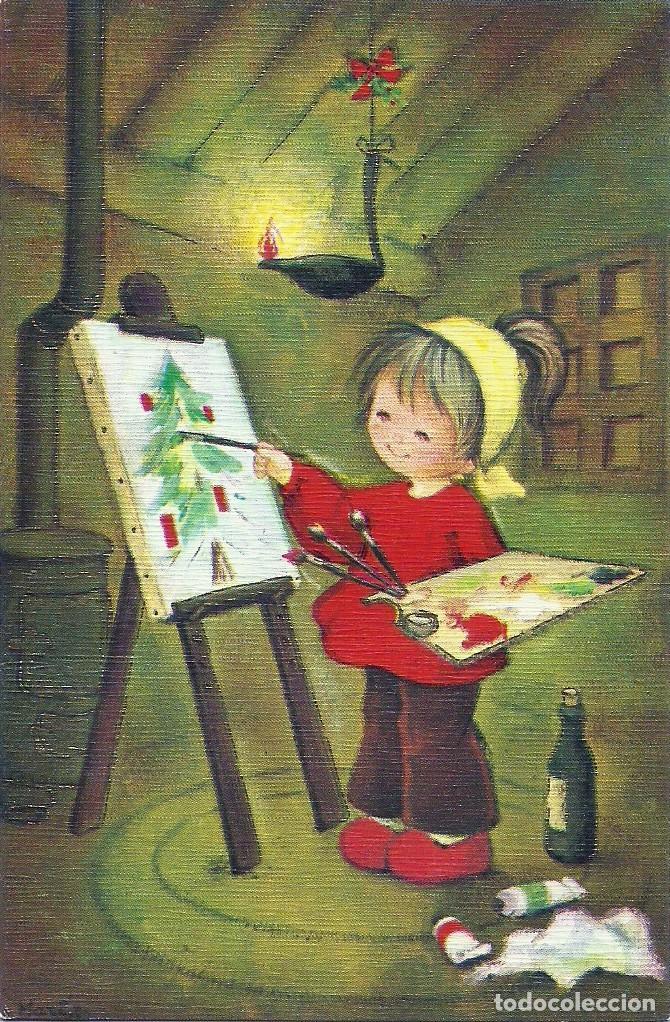 0794X - EDICIONES ORTIZ MADRID X146 - DIPTICA 13X8,5 CM- ILUSTRA MARIA (Postales - Postales Temáticas - Navidad)