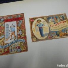 Postales: LIBRO CON ILUSTRACIONES FELICITACIONES ANTIGUAS NAVIDAD CARTERO HERRERO ELECTRICISTA SERENO ETC. Lote 130480458
