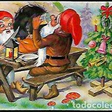 Postales: FELICITACION NAVIDAD ZSOLT * ENANITOS EN LA COMIDA DE NAVIDAD *1967(15 X 10). Lote 131021560