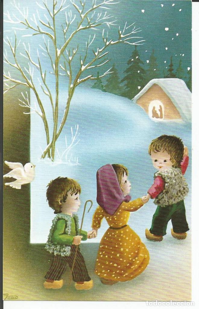 FELICITACION NAVIDAD *JOAN* - PASTORES HACIA EL PORTAL - 1978 (Postales - Postales Temáticas - Navidad)