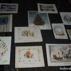 Postales: 11 POSTALES NAVIDAD ESCRITAS ,AÑOS 40-50-60, . Lote 132265058