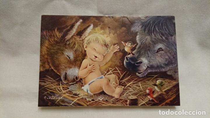 Antigua Postal De Navidad Dibujos Caricaturas I Comprar Postales - Postales-navidad-dibujos