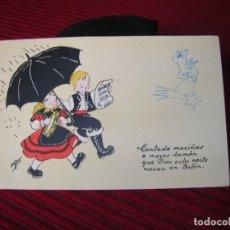 Postales: FELICITACIÓN NAVIDEÑA POR AFAR.AÑO 1955. Lote 133081282