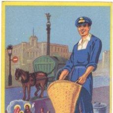 Postales: FELCITACIÓN DE NAVIDAD EL BASURERO LES DESEA FELICES PASCUAS. Lote 133219486