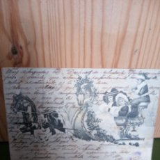 Postales: NAVIDAD ANTIGUA POSTAL CIRCULADA EN 1906. Lote 133280314