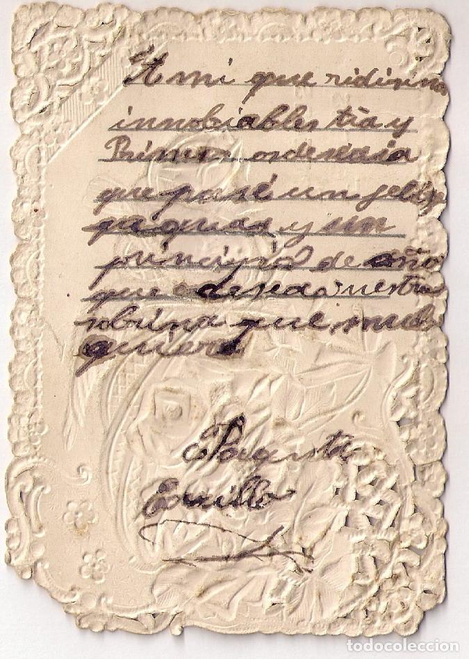 Postales: ANTIGUA TARJETA DE FELICES PASCUAS CON RELIEVES. - Foto 2 - 134744410