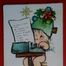 Postales: TARJETA SENCILLA FELICITACIÓN NAVIDAD ILUSTRA FERRANDIZ AÑO 1969. Lote 135578929