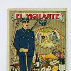 Postales: ANTIGUA TARJETA / HOJITA DE FELICITACIÓN NAVIDEÑA - EL VIGILANTE FELICITA LAS PASCUAS . Lote 136539734