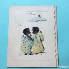 Postales: POSTAL DE NAVIDAD DE 1.953 TROQUELADA. Lote 139351806