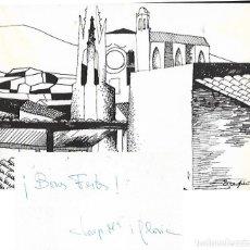 Postales: FELICITACION NAVIDAD PINTOR JOSEP PERPIÑA CITOLER - CON DEDICATÓRIA ( 24 X 17 ). Lote 139410702
