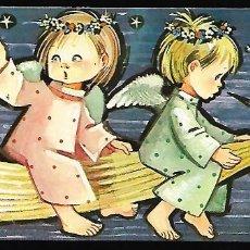 Postales: FELICITACION NAVIDAD PRUDEN * ANGELITOS VOLANDO SOBRE LA ESTRELLA * 1966 (16 X 7 ). Lote 139777106