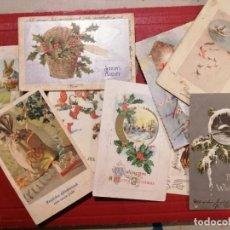 Postales: NAVIDAD - LOTE DE 35 POSTALES VARIOS PAÍSES 1900-50 - CIRCULADAS Y NUEVAS. Lote 140096270