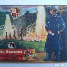 Postales: EL SERENO LES DESEA FELICES PASCUAS Y UN PROSPERO AÑO NUEVO POSTAL NAVIDAD. Lote 140119526