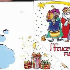 Postales: TARJETA NAVIDAD * LOS REYES MAGOS *. Lote 140279978
