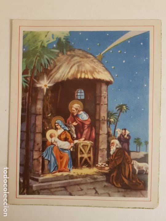 FELICITACION NAVIDAD MISTERIO Y REYES MAGOS 13X10CM 1957 (Postales - Postales Temáticas - Navidad)
