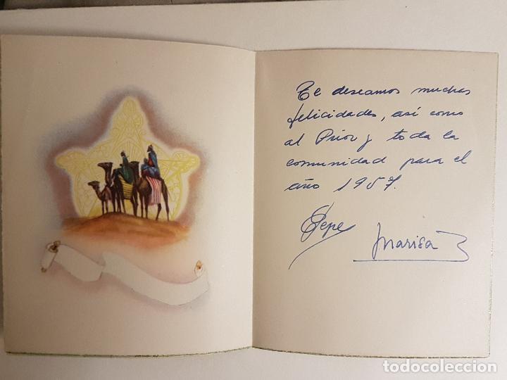 Postales: FELICITACION NAVIDAD MISTERIO Y REYES MAGOS 13X10CM 1957 - Foto 2 - 140811714