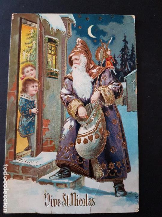 POSTAL NAVIDAD RELIEVE SAN NICOLAS PAPA NOEL (Postales - Postales Temáticas - Navidad)