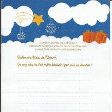 Postales: CARTA A SES MAJESTATS, ELS REIS MAGS D' ORIENT - (REYES MAGOS DE ORIENTE). Lote 184402078