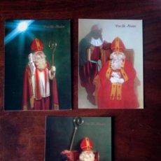 Postales: 3 POSTALES NAVIDAD SAN NICOLAS COLECCIÓN PERLA NUEVO. Lote 141993362