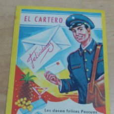Postales: POSTAL FELICITACIÓN NAVIDAD EL CARTERO EDICIONES MORAGÓN 11X8 CM.. Lote 143165866