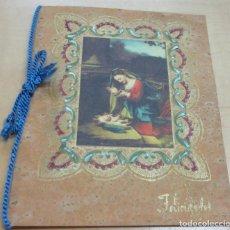 Postales: POSTAL NAVIDAD AÑO 1950 13X10 CM. ESTAMPACIÓN EN DORADO. Lote 143259986