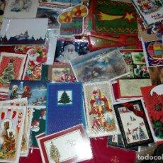 Postales: 75 FELICITACIONES DE NAVIDAD - NUEVAS . CON SOBRE Y FUNDA ORIGINAL. Lote 143357498