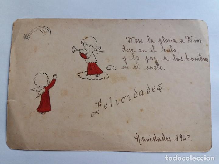 ANTIGUA TARJETA POSTAL 1947 - NAVIDADES - RELIGIOSA - ÁNGELES (Postales - Postales Temáticas - Navidad)