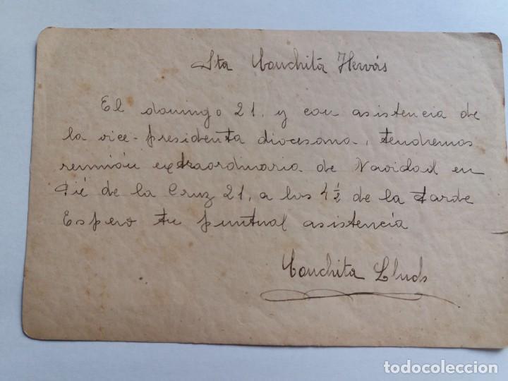Postales: ANTIGUA TARJETA POSTAL 1947 - NAVIDADES - RELIGIOSA - ÁNGELES - Foto 2 - 143388130