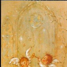 Postales: FELICITACION NAVIDAD MARY * ANGELITOS TOCANDO LA TROMPETA *( 16 X 11). Lote 295817533