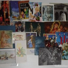 Postales: 20 POSTALES DE FELICITACIÓN NAVIDEÑAS DE LOS AÑOS 70, CASI TODAS ESCRITAS. Lote 143848446