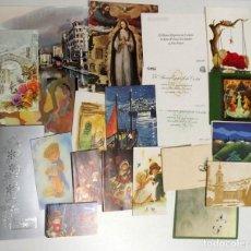 Postales: 21 POSTALES DE FELICITACIÓN NAVIDEÑAS DE LOS AÑOS 80, CASI TODAS ESCRITAS. Lote 143848546