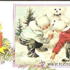 Postales: FELICITACIÓN NAVIDAD * JUGANDO EN LA NIEVE * ARTIS MUTI 1982. Lote 144504682