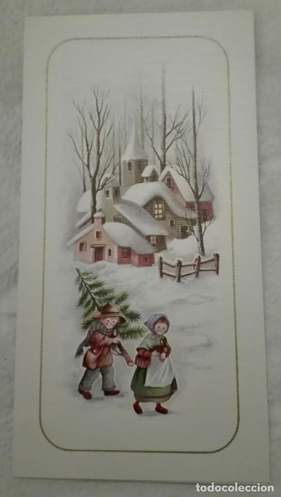 -73642 POSTAL DIBUJO NIÑOS EN NAVIDAD, EDICIONES ORTIZ X354, ESCRITA (Postales - Postales Temáticas - Navidad)